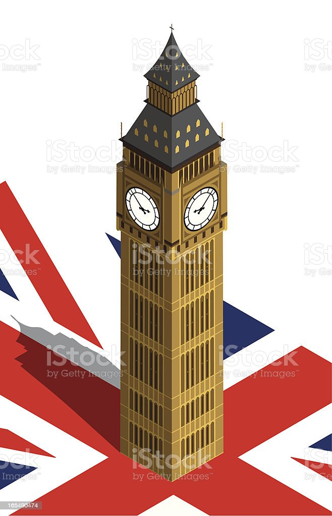 London Clock Tower royalty-free stock vector art