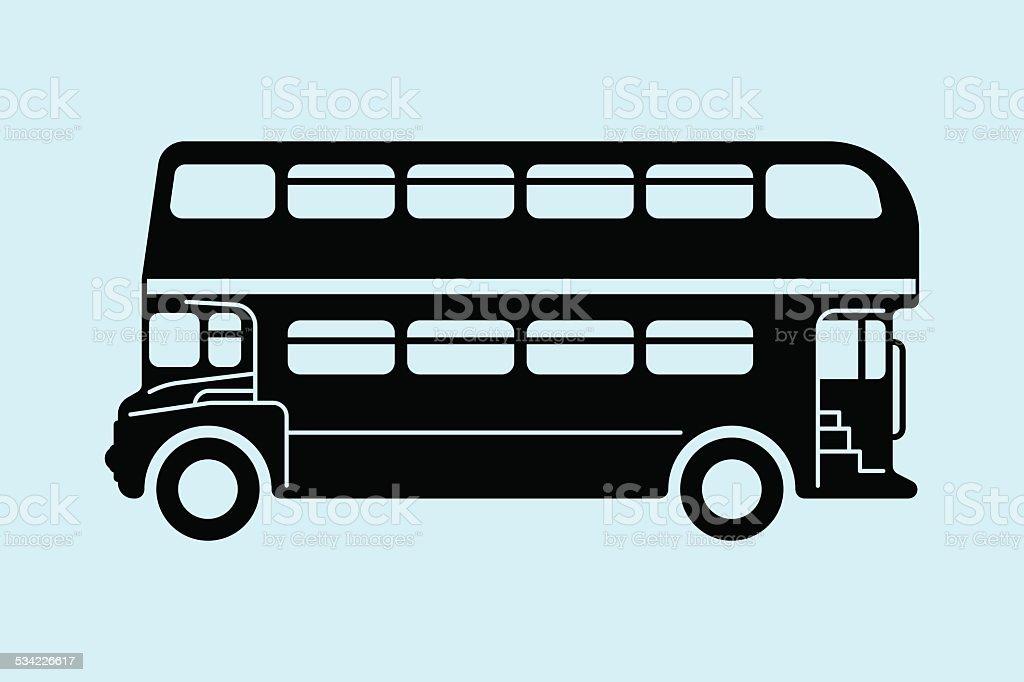 London double-decker bus vector art illustration