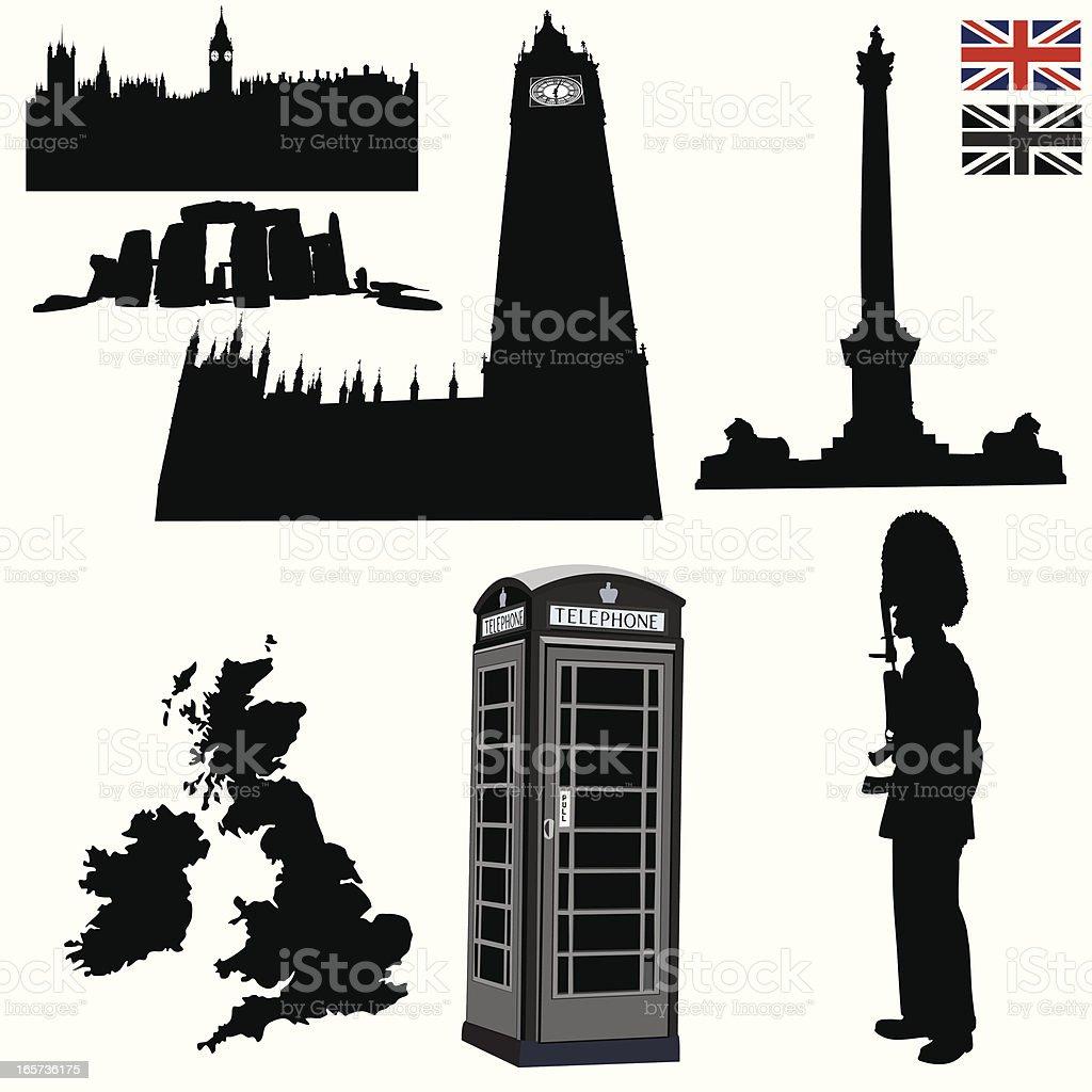 London elements royalty-free stock vector art