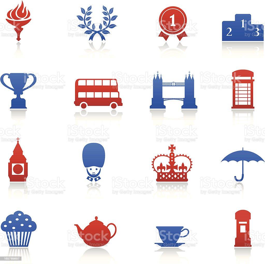 London Games Icons vector art illustration