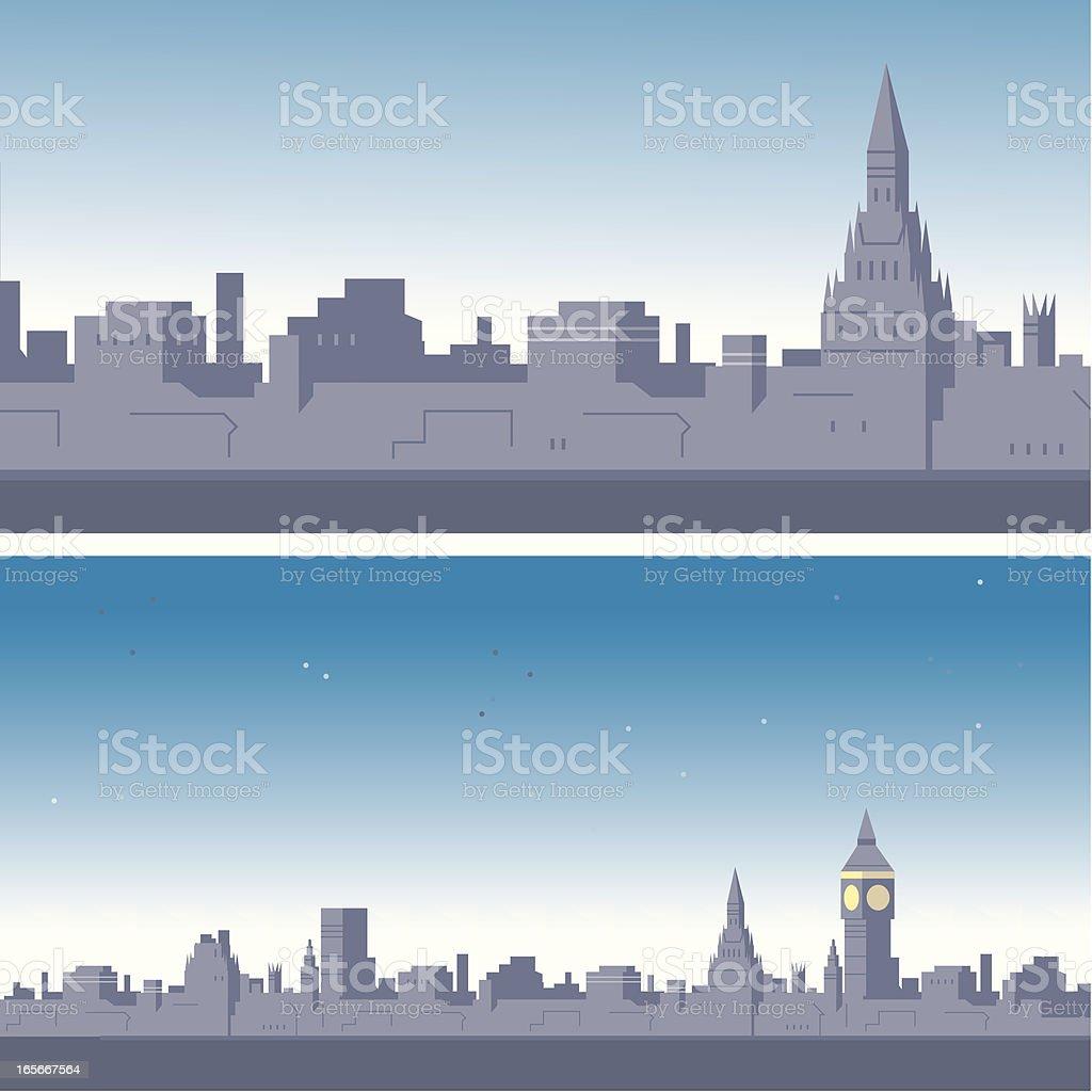 London Nights royalty-free stock vector art