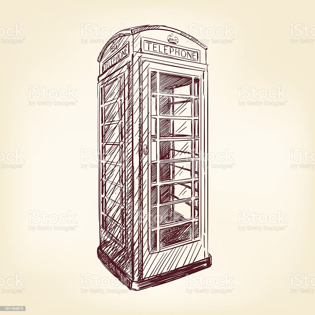London pay phone royalty-free stock vector art