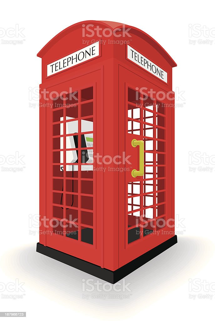 London phone booth royalty-free stock vector art