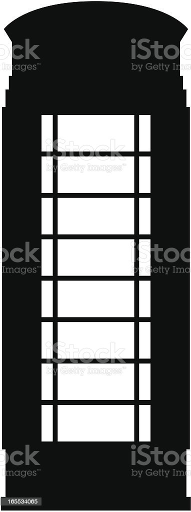London Phone Box royalty-free stock vector art