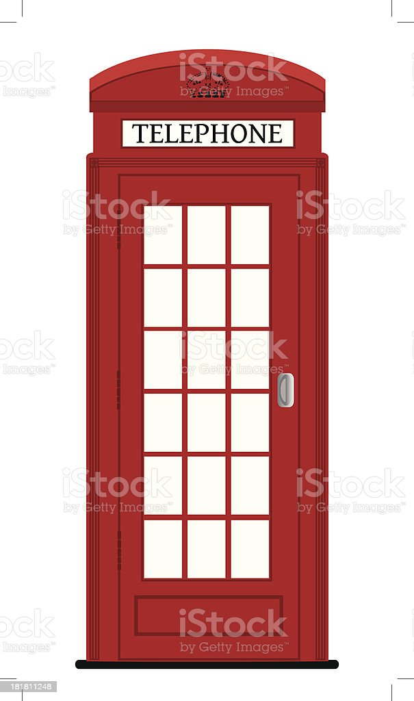 London phone box , vector illustration royalty-free stock vector art