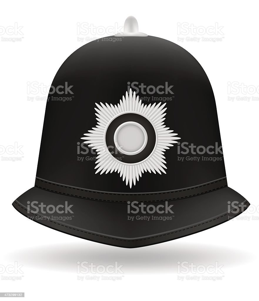 london police helmet vector illustration vector art illustration