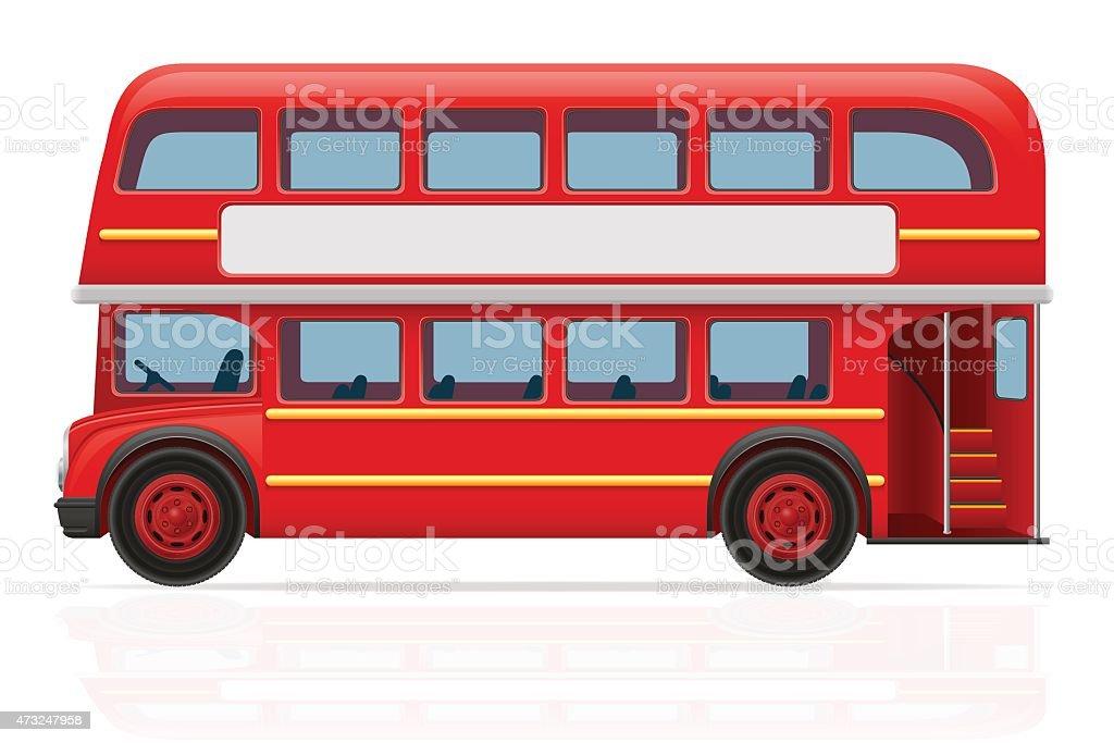london red bus vector illustration vector art illustration