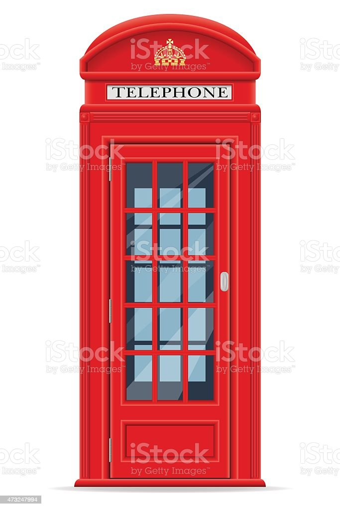 london red phone booth vector illustration vector art illustration