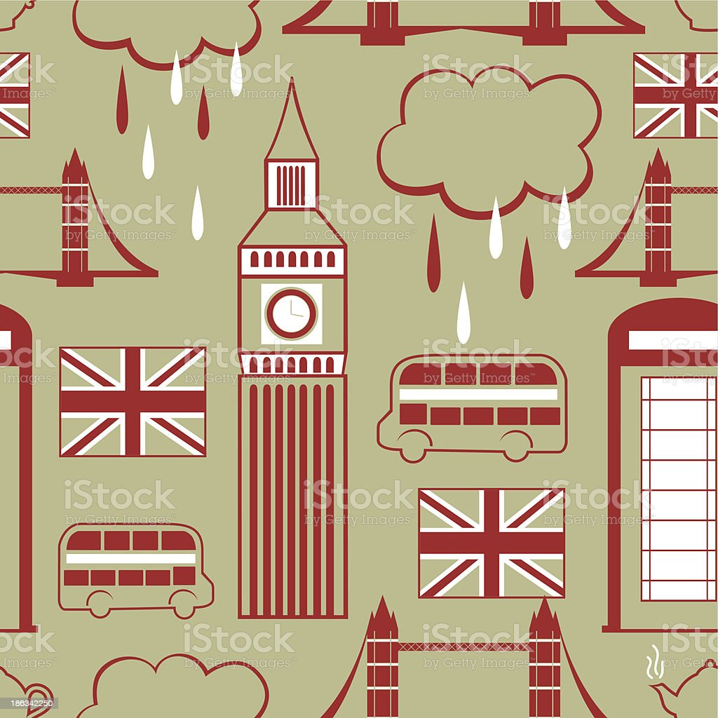 London seamless pattern royalty-free stock vector art