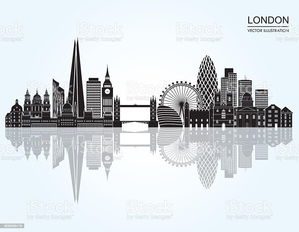 London Skyline abstract. Vector illustration vector art illustration