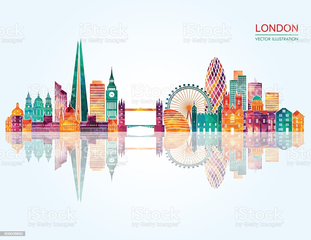 London Skyline abstract. Vector illustration vector art illustration