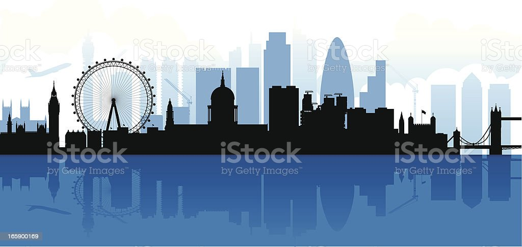 London Skyline Silhouette royalty-free stock vector art