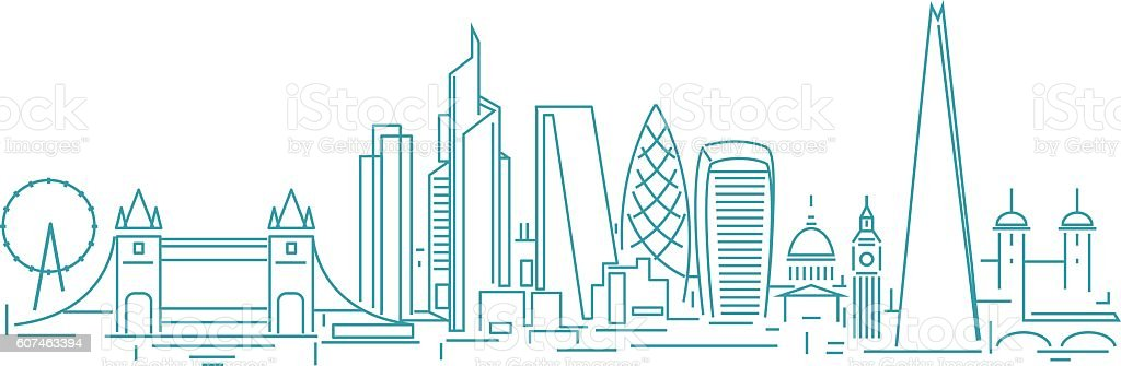 London skyline vector art illustration