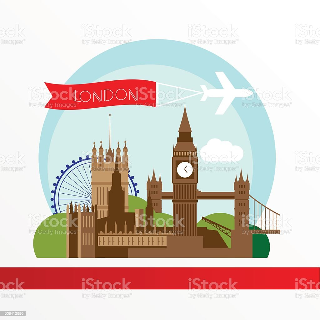London Skyline. Vector illustration vector art illustration