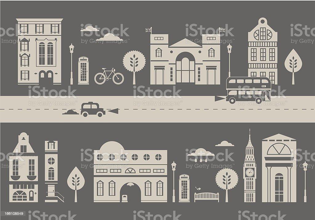 London street royalty-free stock vector art