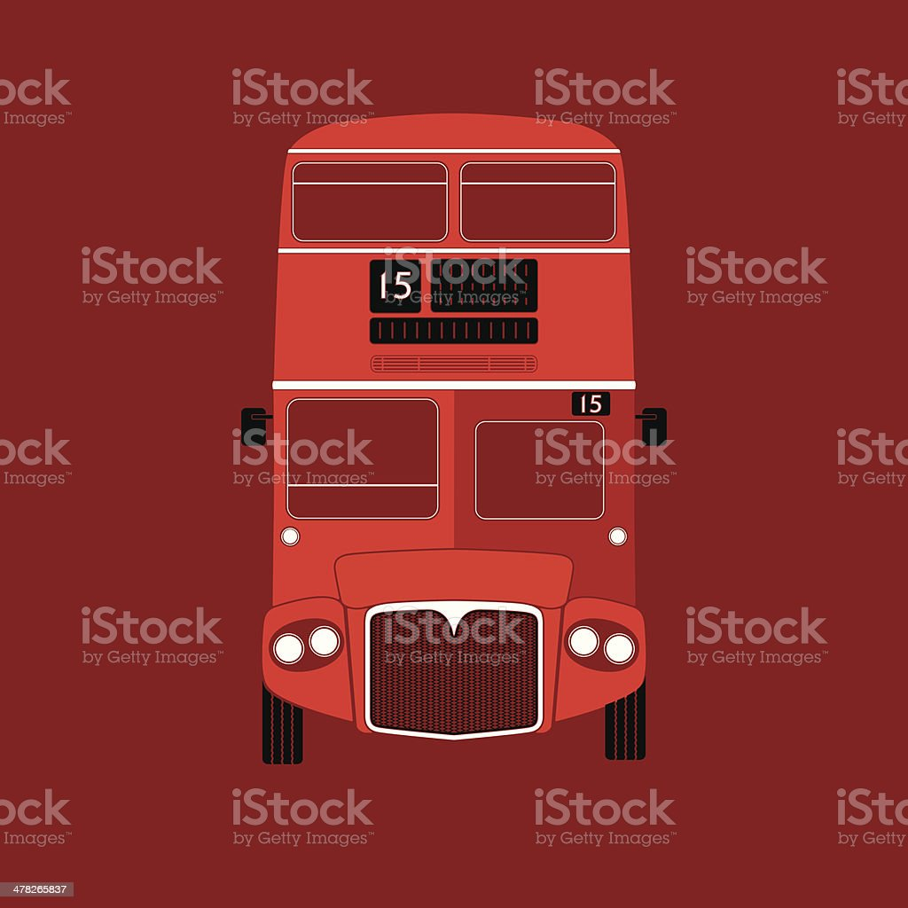 London symbol - red bus  icon - double decker - vector illustration vector art illustration