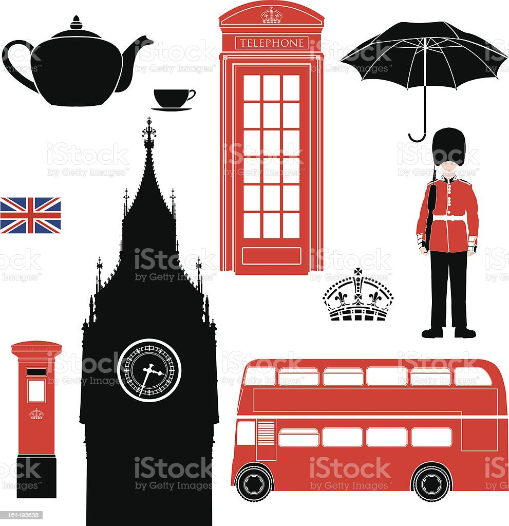 London symbols - very detailed illustration vector art illustration