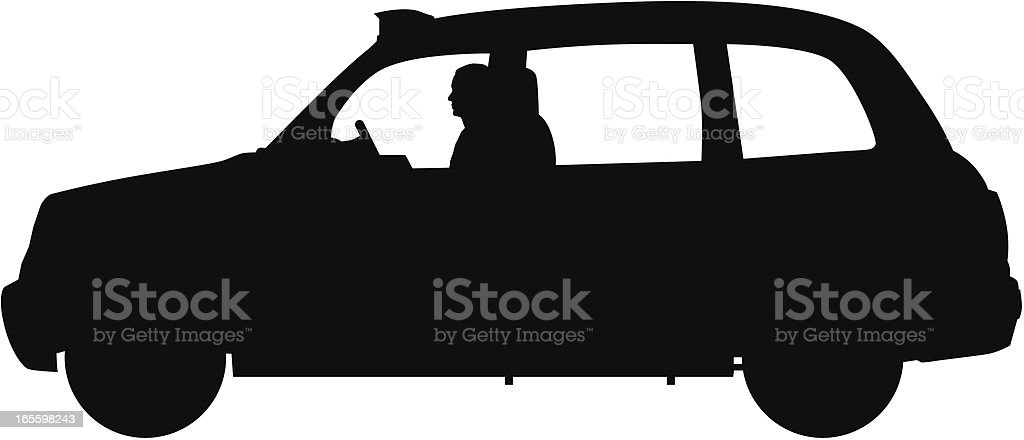 London Taxi royalty-free stock vector art
