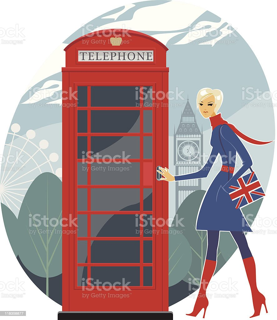 London telephone royalty-free stock vector art