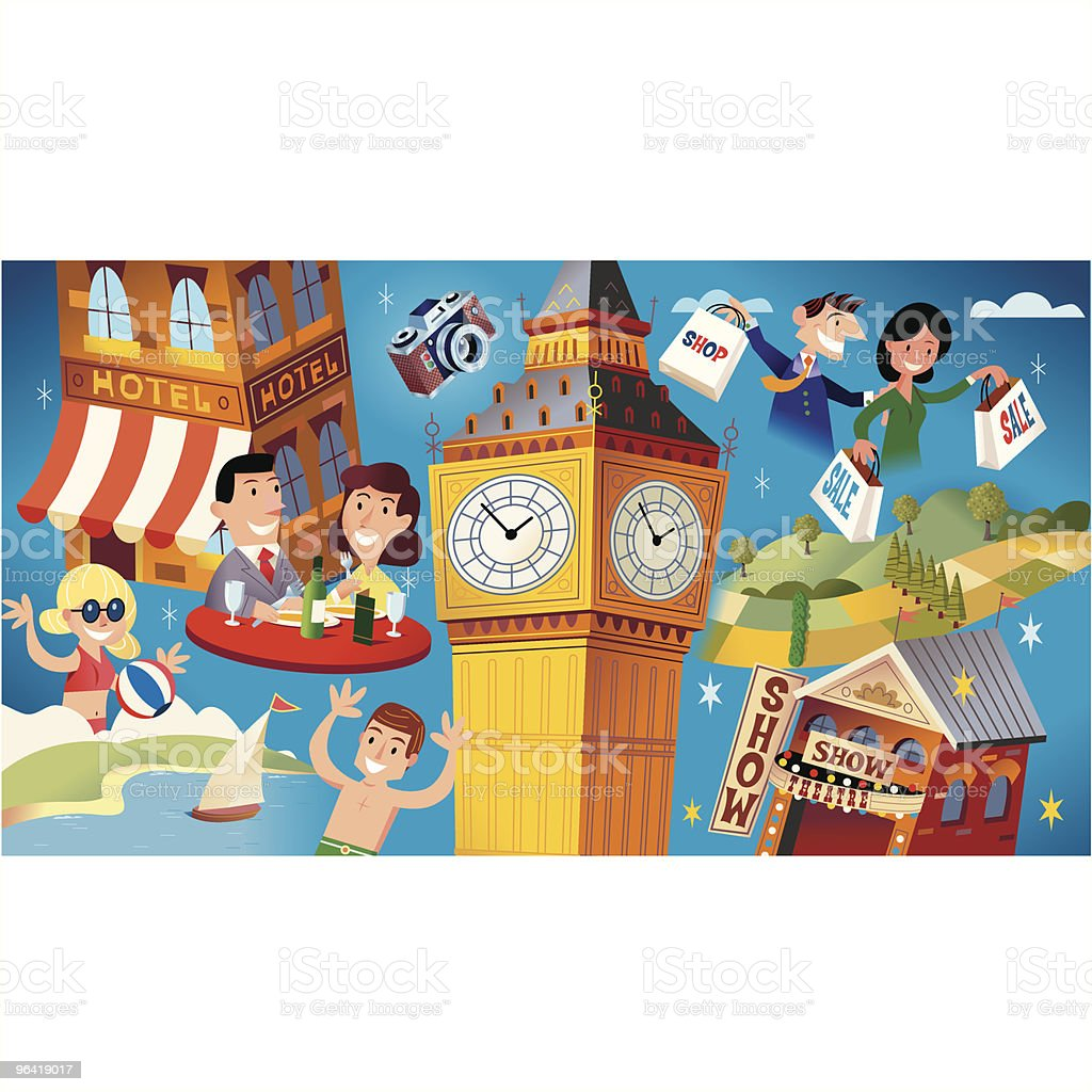 London + UK Holiday royalty-free stock vector art