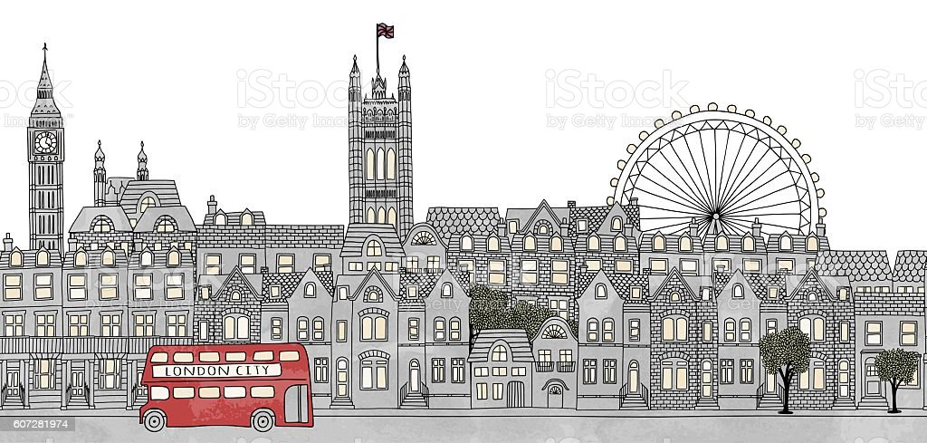 London, UK vector art illustration