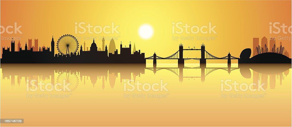 London (Buildings Are Detailed, Moveable and Complete) royalty-free stock vector art