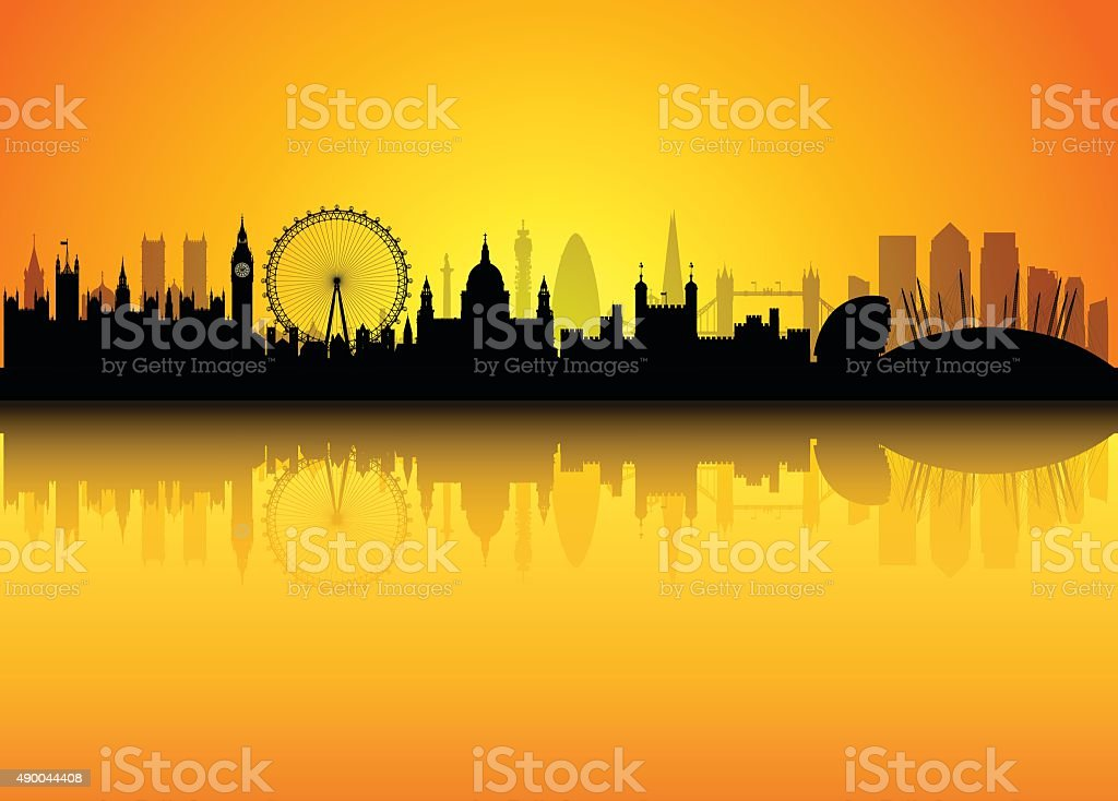 London (Each Building is Detailed and Complete) vector art illustration