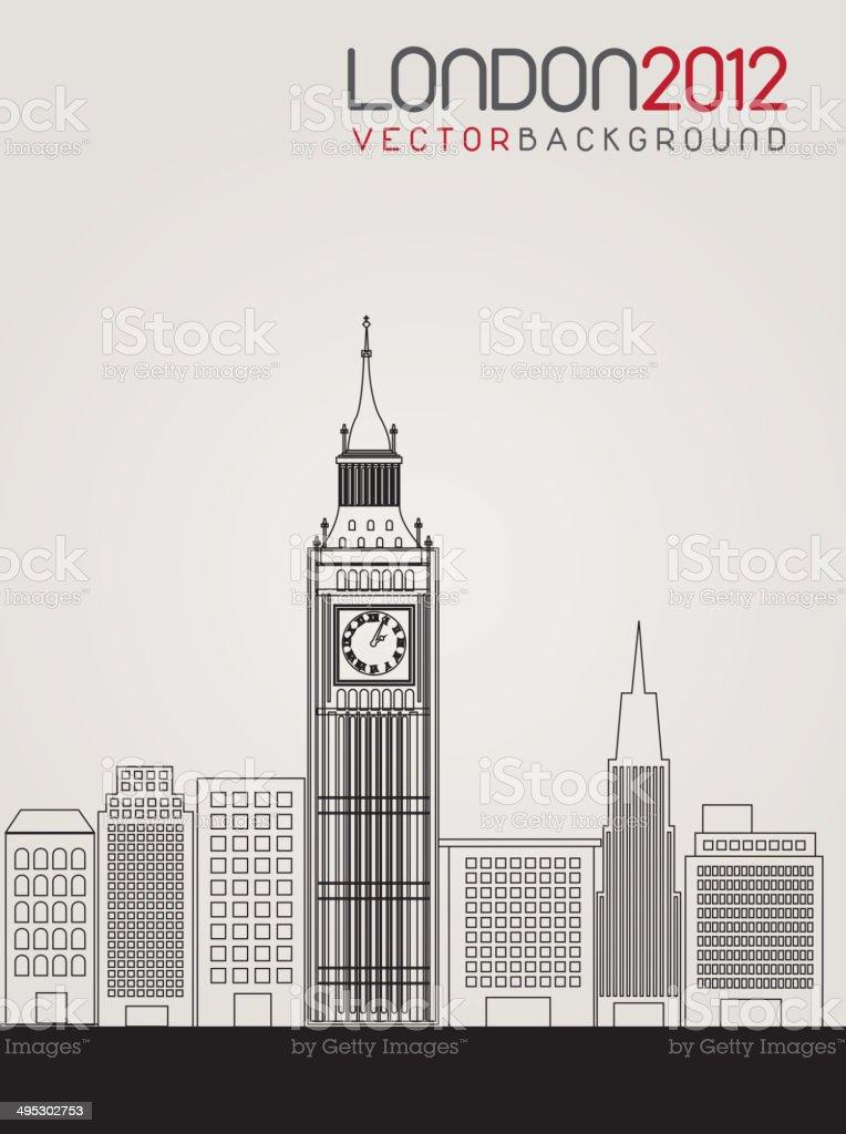 London vector art illustration