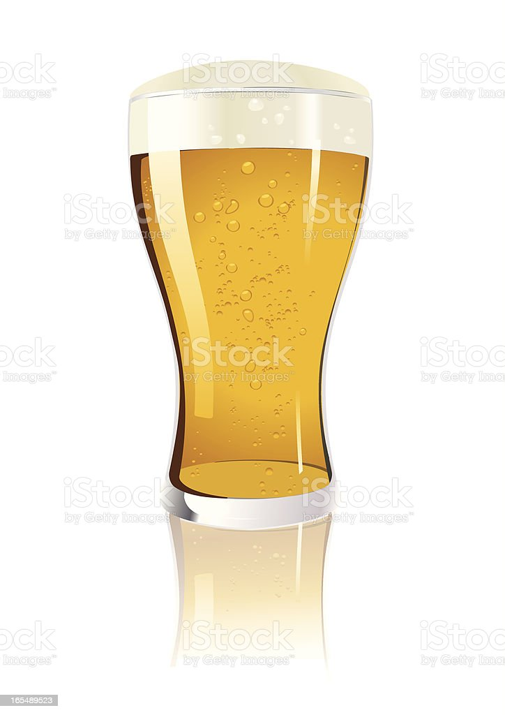 Lone glass of beer in vector illustration royalty-free stock vector art