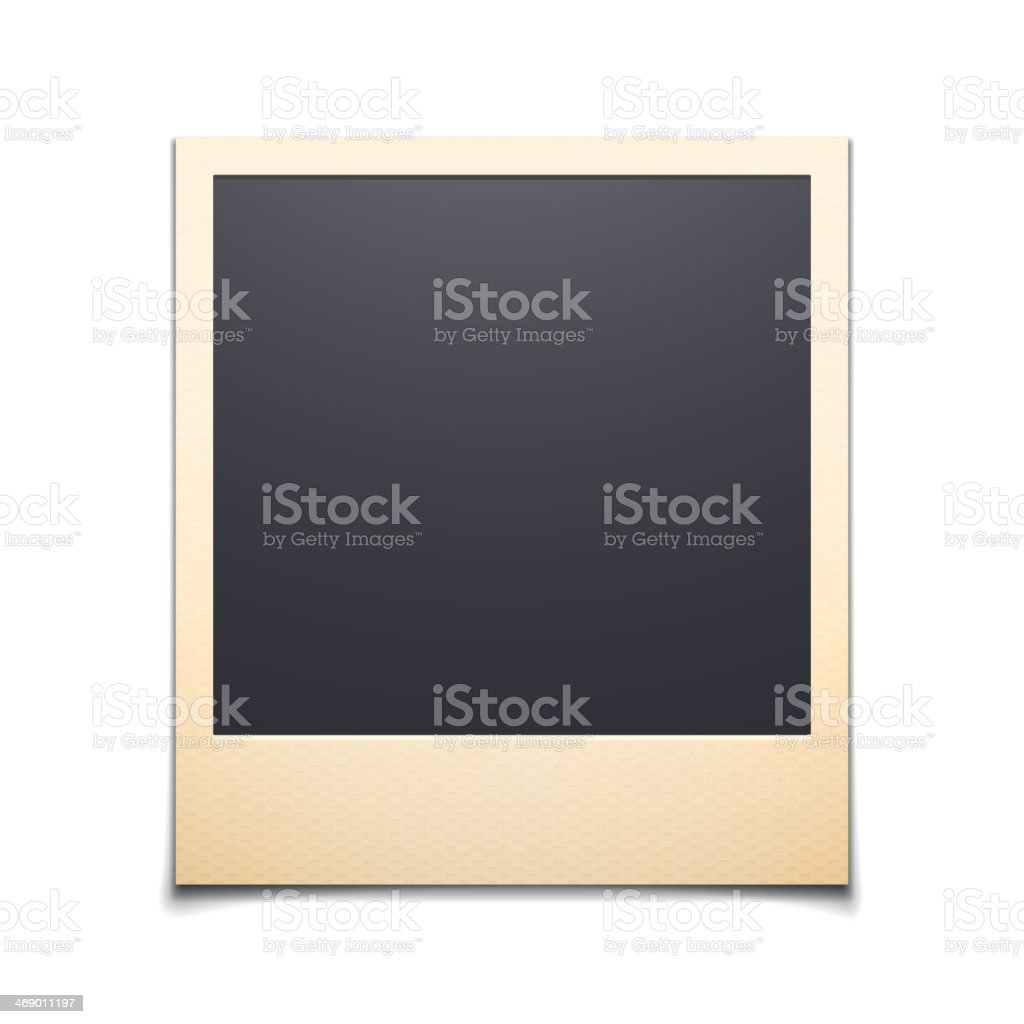 Lone instant photo frame over a white background vector art illustration