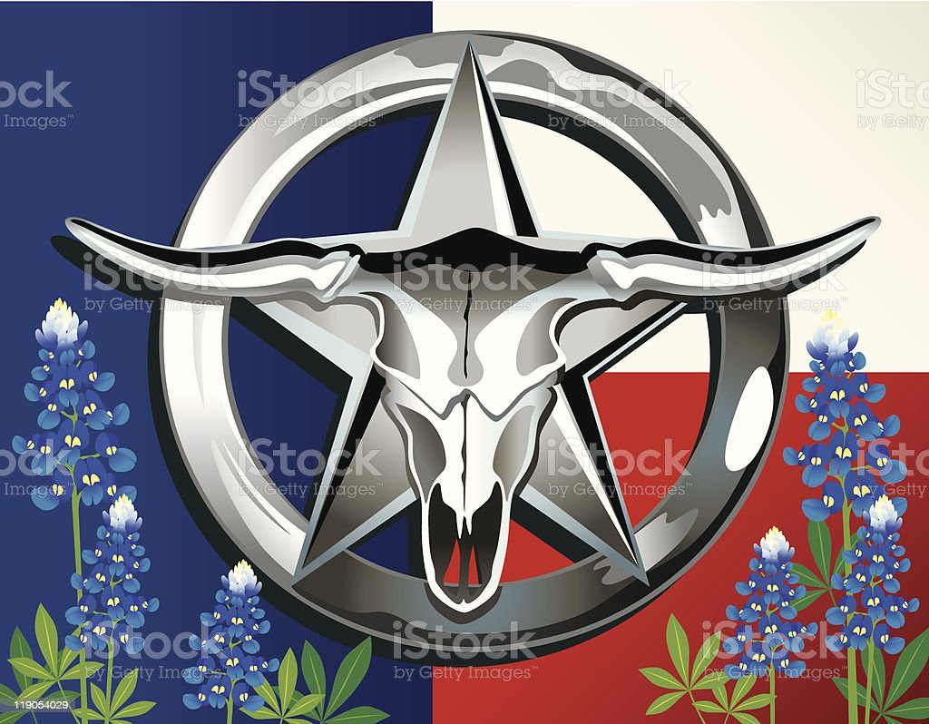 Lone Star Belt Buckle royalty-free stock vector art