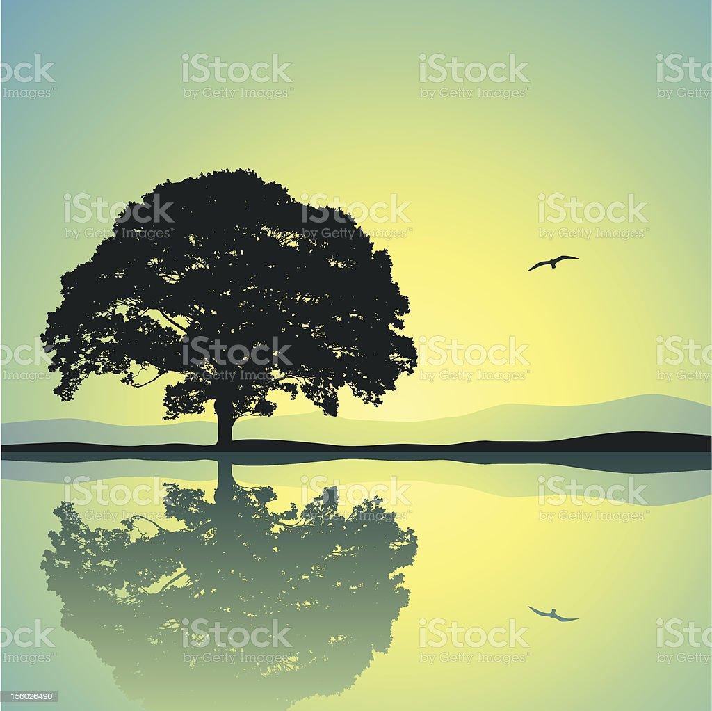 Lone Tree royalty-free stock vector art