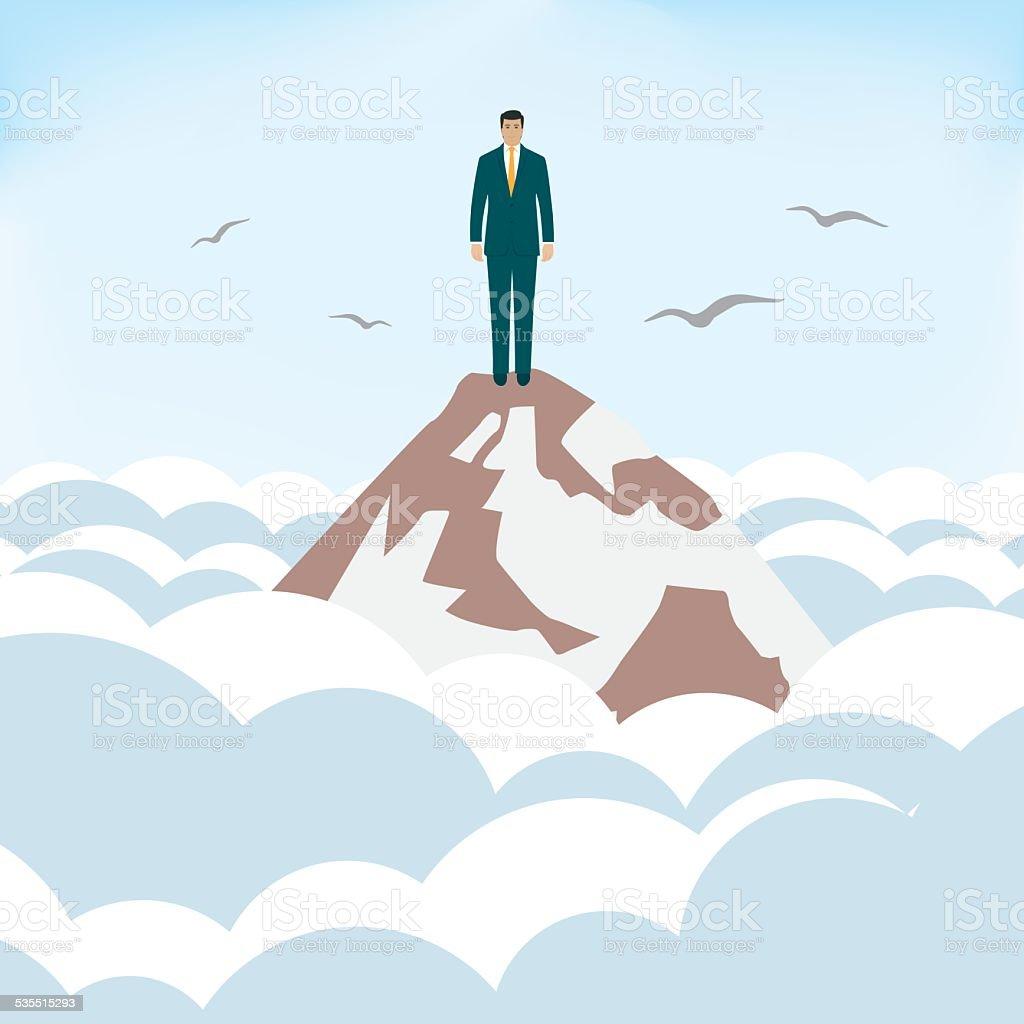 Lonelines at Summits vector art illustration