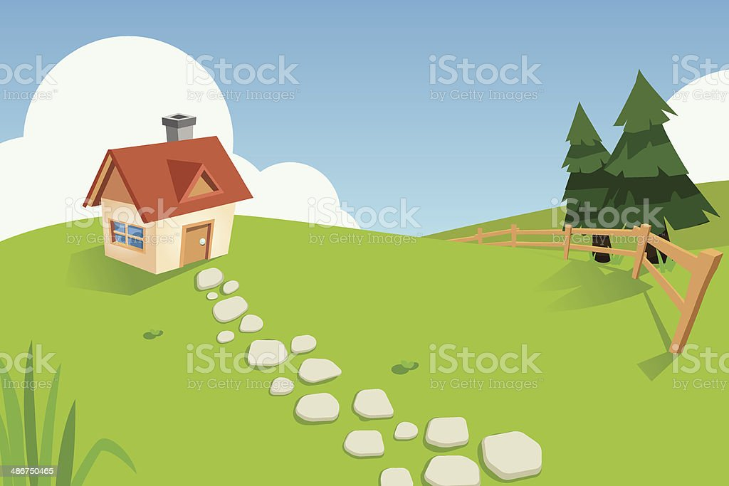 Lonely house royalty-free stock vector art