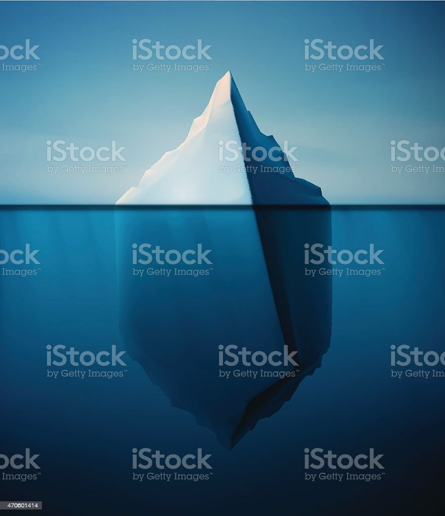 Lonely Iceberg vector art illustration