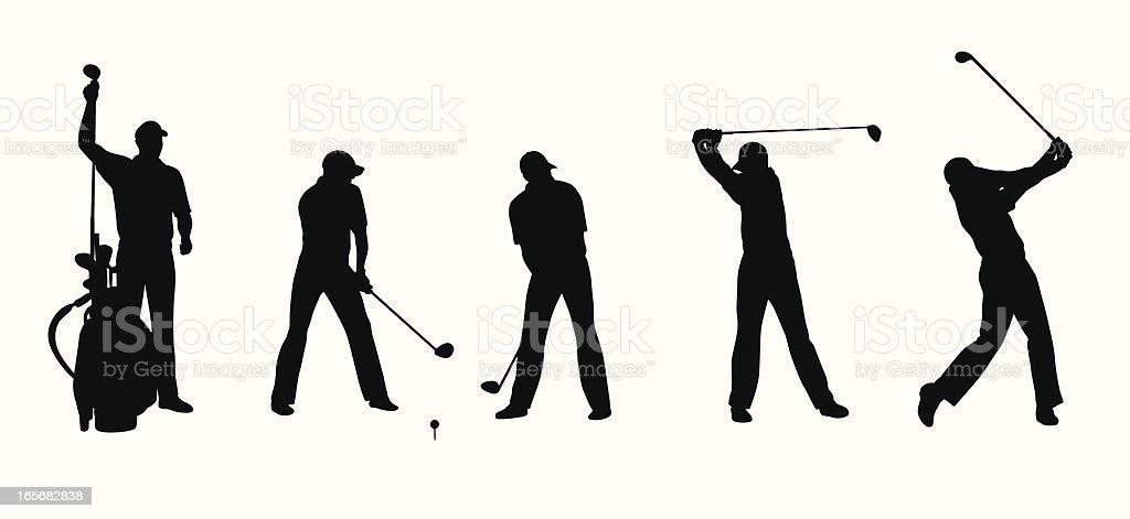 Long Ball Vector Silhouette vector art illustration