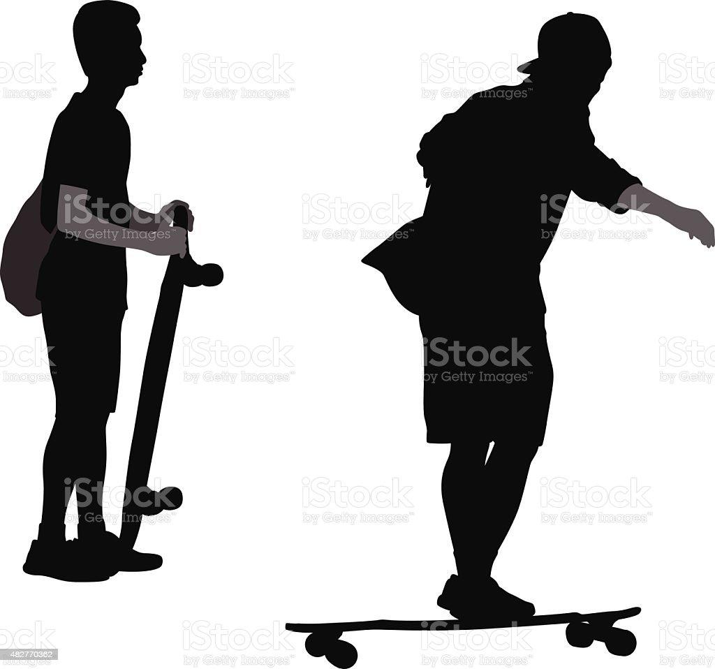 Long Boards vector art illustration