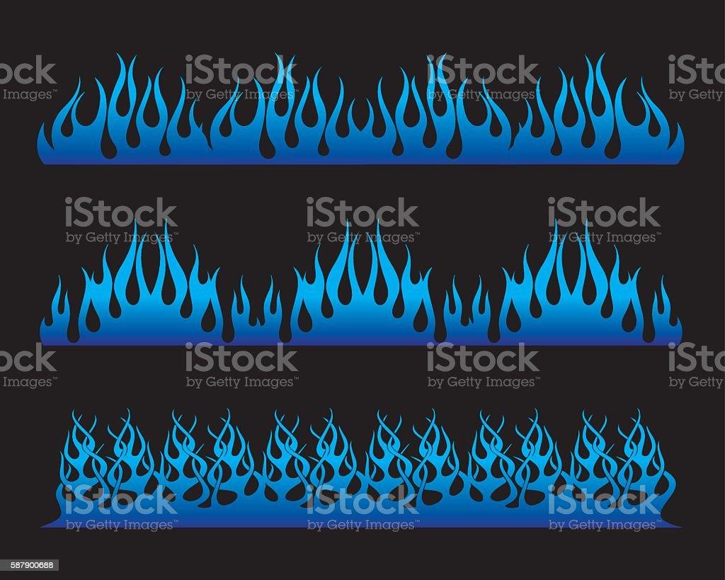 long fire illustration vector art illustration
