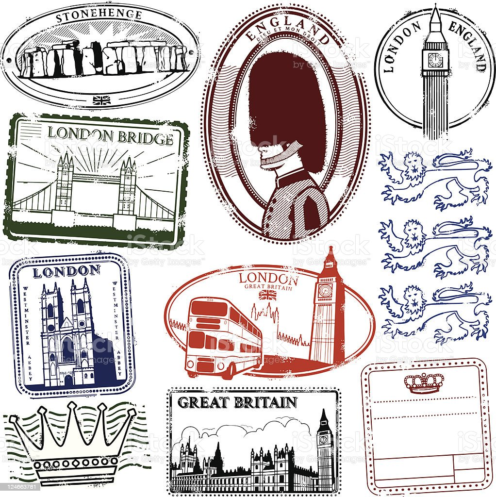 Long Live London vector art illustration