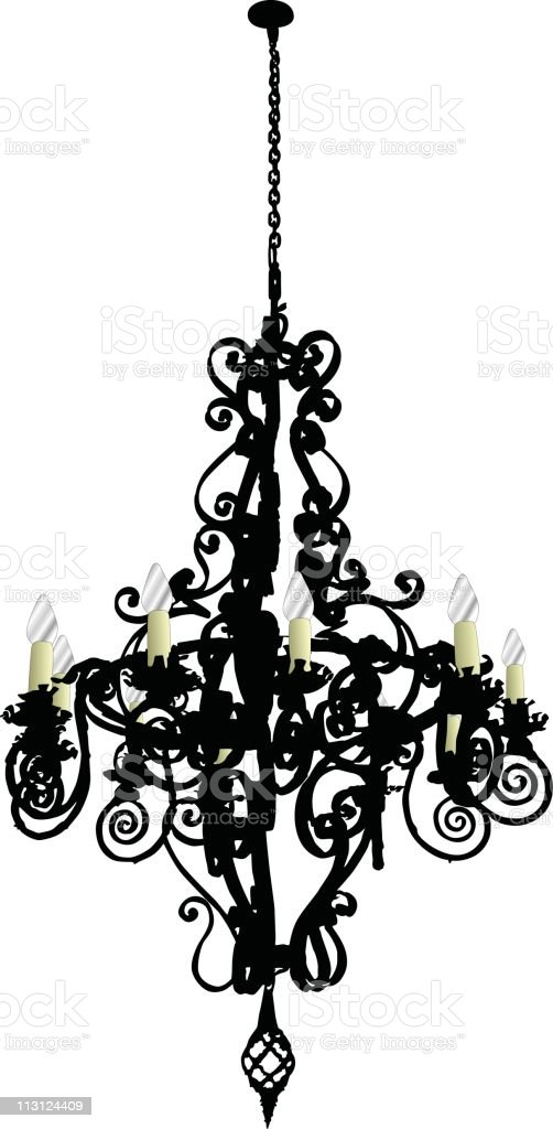 Long Old Chandelier (Vector) royalty-free stock vector art