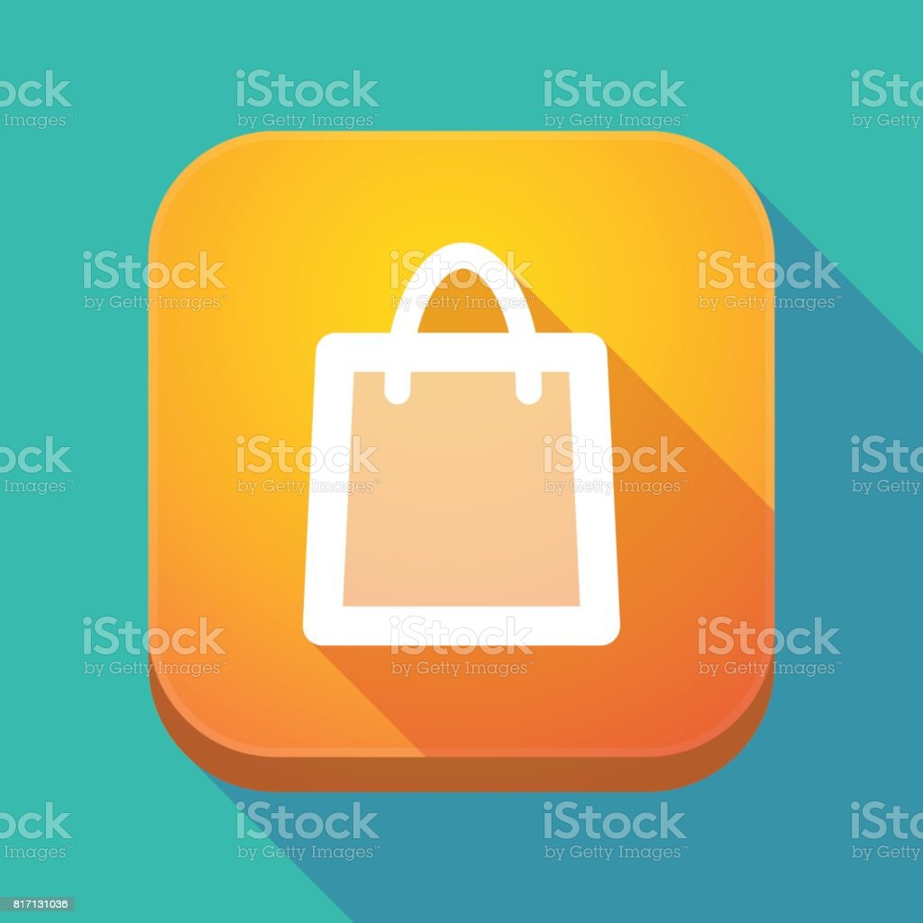 Long Shadow App Icon With A Shopping Bag stock vector art ...