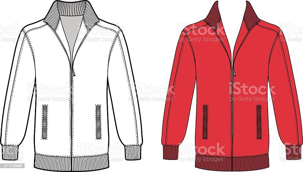 Long sleeve jacket vector art illustration