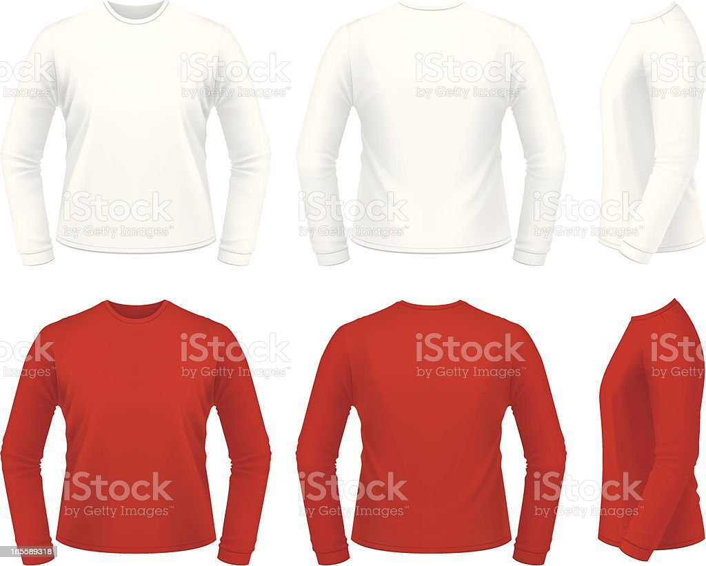 Long sleeve shirt royalty-free stock vector art