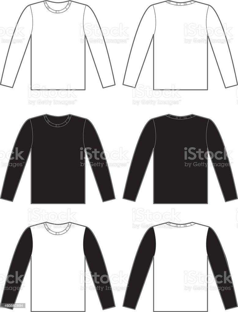 Long Sleeve T-shirts vector art illustration