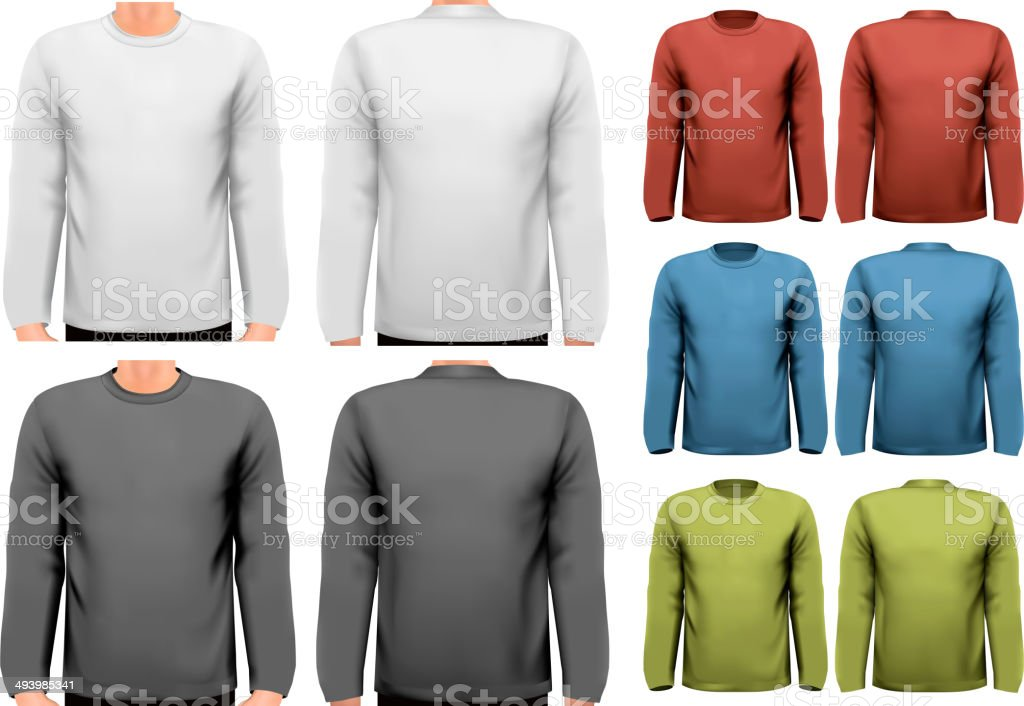 Long sleeved shirts with sample text space. Vector. royalty-free stock vector art