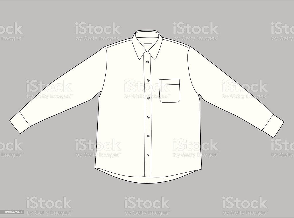 Long Sleeves Shirt royalty-free stock vector art