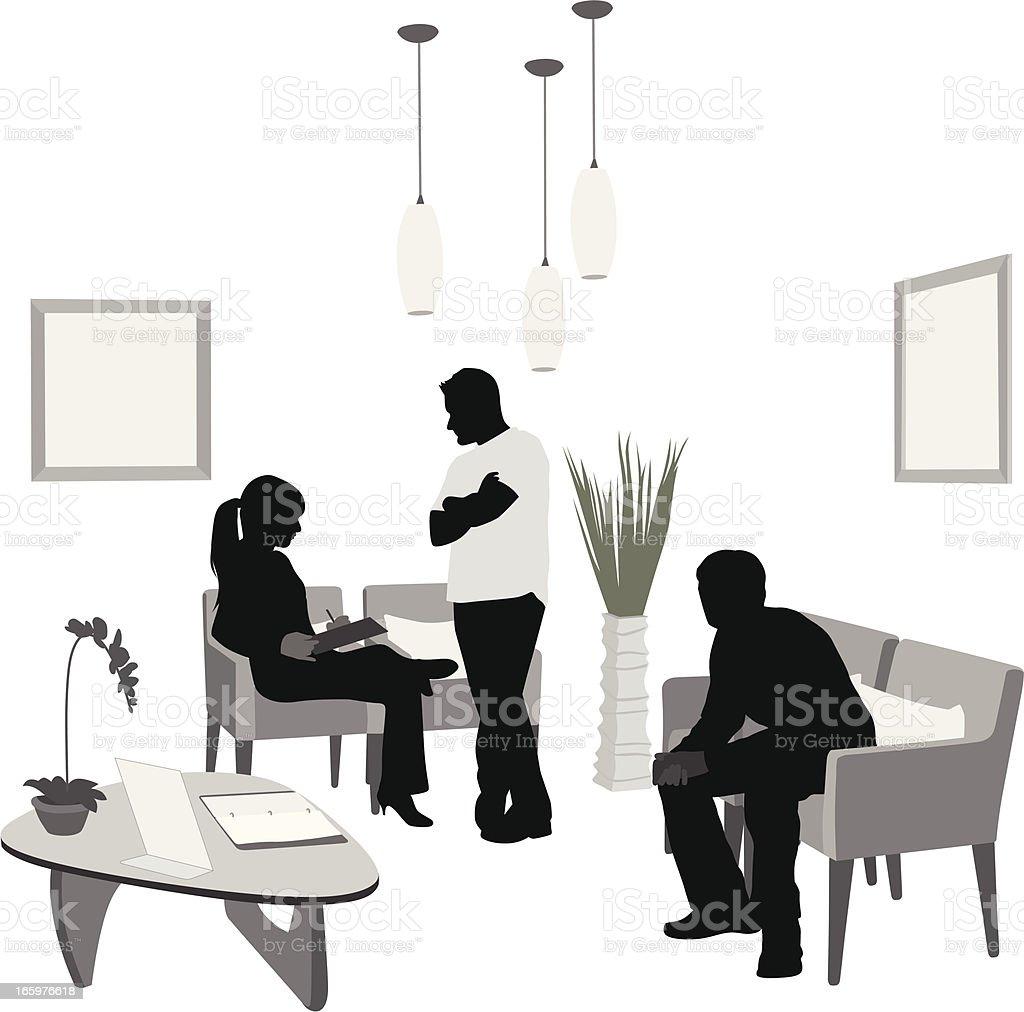 Long Wait Vector Silhouette vector art illustration