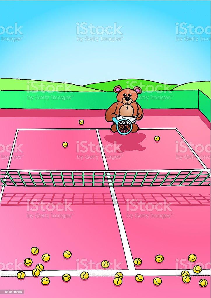 Lonly Teddy vector art illustration