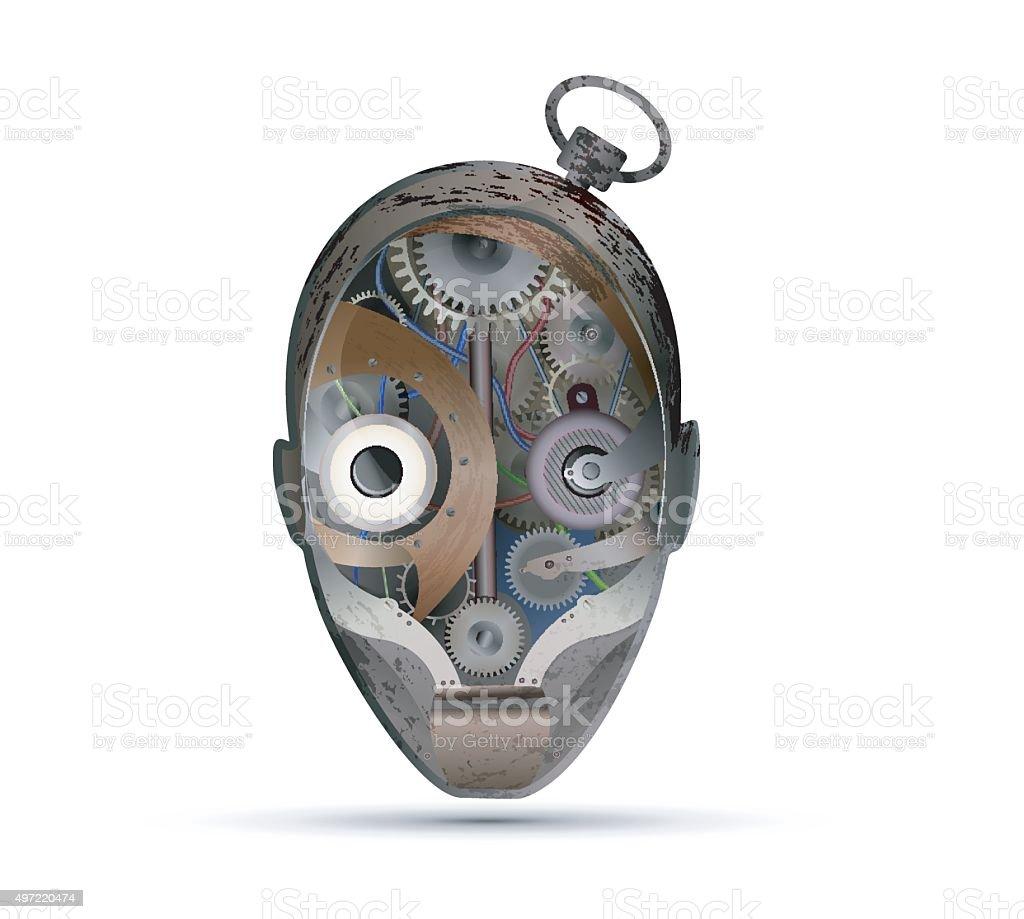 look at vector art illustration