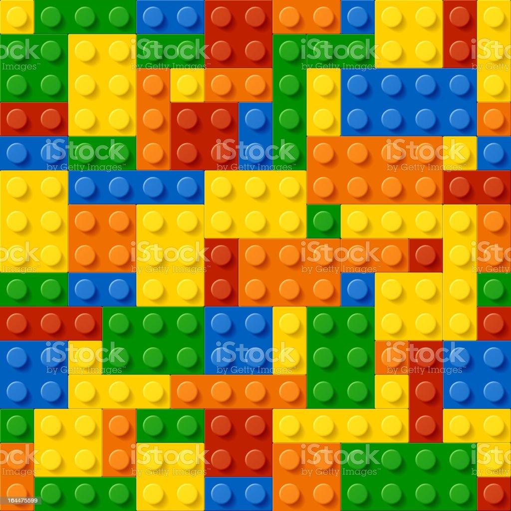 Looking down at multicolored plastic blocks royalty-free stock vector art